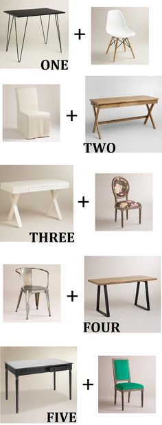 (Small) Desk Shopping and Which Chairs to Pair Them With