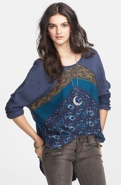 mixed pullover