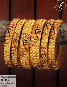 Jewellery Collection For order and details WhatsApp - 9100679560 Gold Bangles Design, Gold Jewellery Design, Gold Bangle Bracelet, Silver Bracelets, Light Weight Gold Jewellery, Sterling Silver Jewelry, Gold Jewelry, Indian Jewelry Sets, Gold Pattern