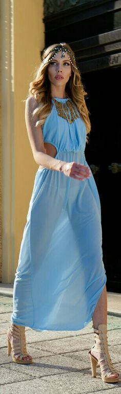 Light Blue Beach Maxi / Fashion by My Fashion World