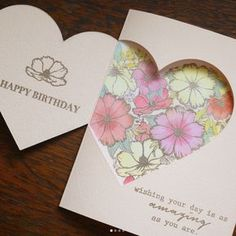Great Card Shape Idea / nice for Valentine's Day