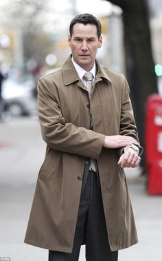 2014 November 7 th. Keanu Reeves looking dapper for his police detective role in Daughter Of God, in Manhattan's Upper East Side, New York. dailymail.co.uk young, hot, paparazzi, funny, john wick, facts, 90s, matrix, motorcycle, constantine, smile