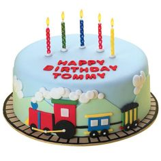 Do the Locomotion Cake - It�s the little train that could make any kid�s birthday unforgettable! Fondant makes it easy to create the great 3-D mountain effect.
