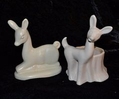 Deer Planter & Pottery Deer Mantle Piece  MCM by ChicMouseVintage
