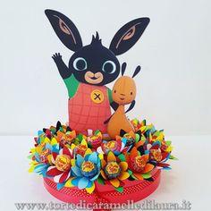 Base Bing Chupa Chups Fiori Bunny Birthday Cake, Baby Boy Birthday, 3rd Birthday Parties, 2nd Birthday, Happy Birthday, Bing Cake, Bing Bunny, Festa Pj Masks, Bunny Party