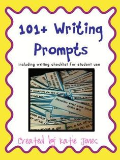 120 writing prompts for students to use - plus writing check list - great for students to use when they can't figure out what to write about.