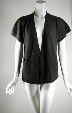 INHABIT Gray Cashmere Short Sleeve Cardigan Wrap Sweater Size P or XS #Inhabit #CardiganWrap