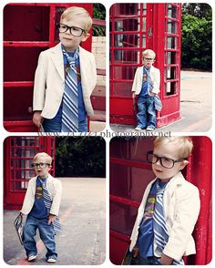 Sooo cute for a little boy... now to find a red phone booth?? :-)