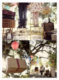 Last spring someone posted this blog of Up-themed engagement shots.  They were very sweet.