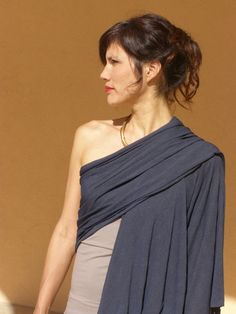 Womens  topOne sleeve topWomen's wrap shawl by SHIHAR on Etsy, $85.00
