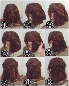 06 Cute Braided Hairstyles for Girls Princess Braided Hairstyle Trends Girls absolutely love princess hairstyles inspired by their favorite characters in movies and TV shows. For this year, here are some trendy and cute braided hairstyle. Short Hair Makeup, Short Hair Updo, Cute Braided Hairstyles, Diy Hairstyles, Popular Hairstyles, Romantic Hairstyles, Princess Hairstyles, Beautiful Hairstyles, Medium Hair Styles