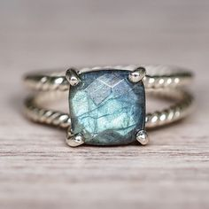 N E W || Labradorite Double Twist Ring || Available in our 'NEW' and 'Earthly Treasures' Collections || www.indieandharper.com