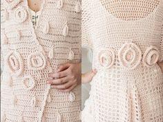#3 Long Roses Coat, Vogue Knitting Crochet 2012