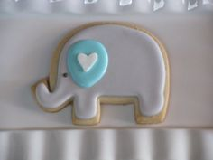 Baby elephant Cookies by PetesCustomCookies on Etsy, $50.00