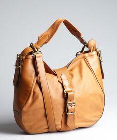Burberry caramel leather shoulder bag