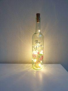 Light Chain, Shops, Bottle Lights, Etsy Shop, Flower Basket, Fairy Lights, String Lights, Vodka Bottle, Gifts