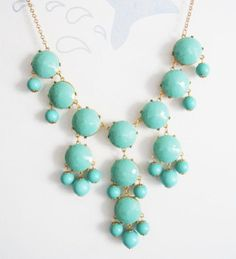 This may be in my near future! {Handmade Bubble Statement Bib Necklace Turquoise by SheaBay, $39.99}