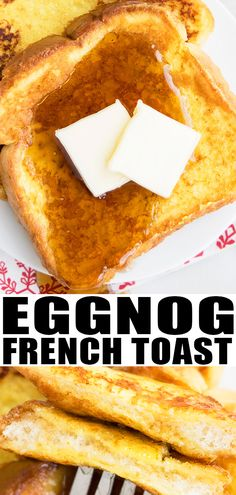 Eggnog French Toast Recipe-Quick, Easy, Best, Made With Simple Ingredients. This Delicious Christmas Breakfast Is A Great Way To Use Up Leftover Eggnog. Can Be Made Into An Overnight Casserole Bake. Incredible For The Holidays From