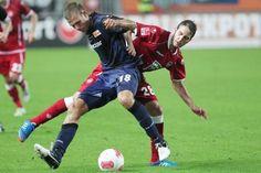 Am Ball: Maurice Trapp (l.) absolvierte in dieser Saison drei Zweitligapartien für den 1. FC Union