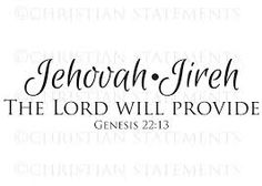 Jehovah Jireh The-LORD-Will-Provide http://schoolofhispresence.blogspot.com/2014/07/jehovah-jireh-lord-will-provide.html