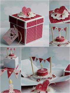 scrapbooking idea for explosion box ♥