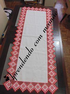 bordado, hardanger, caminho de mesa em hardanger, bordado hardanger, cânhamo branco, linha libra esterlina, agulha tapestry, trabalho, gráfico, ponto reto, ponto atrás, ponto hardanger, ponto caseado