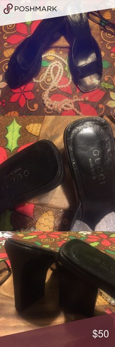 Gucci Ponyhair Slides / Mules Great shoes look new, the bottoms have been re-soled professionally but you can still see the label and size.  I bought these and lost weight and well my feet got smaller so here they sit with no ❤️. You won't be disappointed with these! Gucci Shoes Mules & Clogs