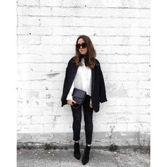 RELAXED WEEKEND LOOK IN BLACK AND WHITE by Fiona Dinkelbach