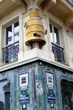 Quartier des Halles, coin de la rue Rambuteau et de la rue Pierre Lescot, Paris