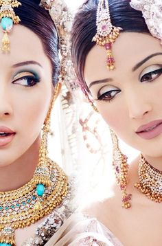 HOW BEAUTIFUL!!! Perfect makeup & the jewelry...so ornate! I didn't know where to categorize this.