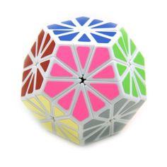 EiioX 12 colors Pyraminx Crystal Megaminx Magic Cube White (bestseller)