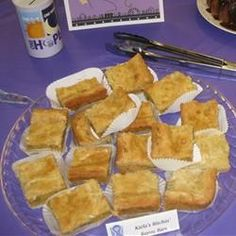I like this chess squares recipe better than paula deen's.  More cream cheesy goodness