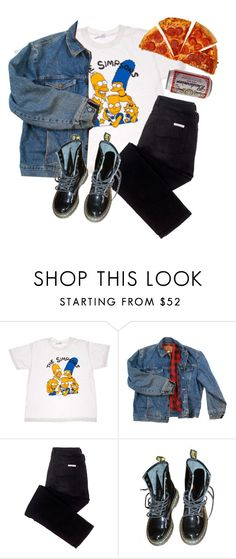 """""""set for @weird-uncle"""" by trashpunk ❤ liked on Polyvore featuring American Apparel, Wrangler, sass & bide and Dr. Martens"""