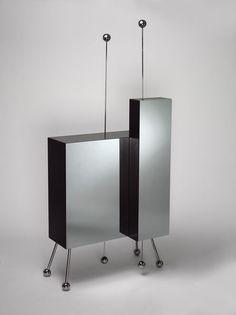 Cipriani cocktail cabinet, Alessandro Mendini, 1981 80s Interior Design, Interior Decorating, Wood Furniture, Furniture Design, Buffet Cabinet, Luxury Furniture Brands, Shelving, Modern Design, Cocktail