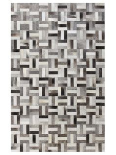 Basket Cowhide Hand-Stitched Rug by Bashian Rugs at Gilt