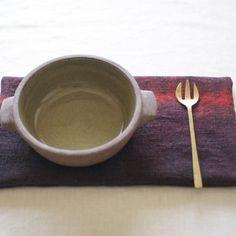 鍋敷き 草木染めのポットマット《インド茜SHIBORI》