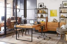 Office design - Industrial Executive Desk - West Elm Workspace. A new way to work.