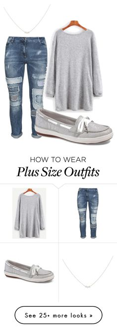 """plus size caren"" by aleger-1 on Polyvore featuring aprico, Keds and Accessorize"