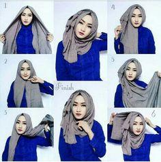 hijab style classic hijab tutorial with volume obpquvo Tutorial Hijab Segitiga, Square Hijab Tutorial, Simple Hijab Tutorial, Turkish Hijab Tutorial, Stylish Hijab, Hijab Chic, Easy Hijab Style, New Hijab Style, Islamic Fashion