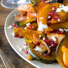 Roasted Heirloom Pumpkin and Squash with Ricotta Salata and Pomegranate Seeds