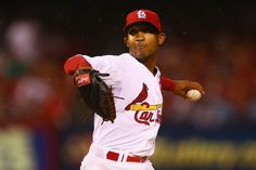 Reliever Sam Freeman pitches against the San Diego Padres in the eighth inning. Cards won 4-2. 8-15-14