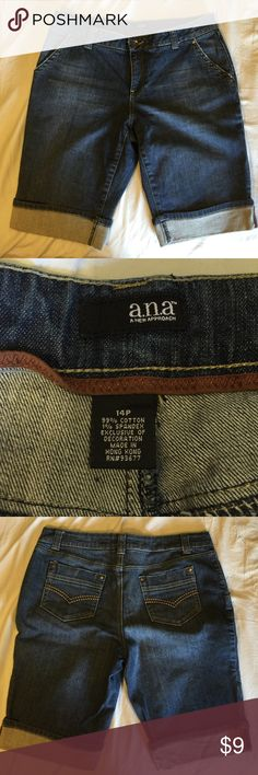 WORN ONCE Ana size 14P shorts great fit WORN ONCE Ana size 14P shorts great fit. All items $13 & under must be bundled Ana Shorts Jean Shorts