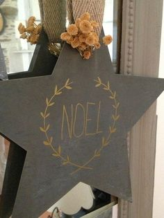 chalk board painted star??