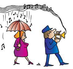 Cartoon: Music (medium) by Alexei Talimonov tagged music,weather,rain,umbrella