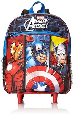 a15f76e93c Marvel Little Boys  Avengers Rolling Backpack Back To School Deals