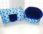 Colorful polka guinea pig tunnel bed