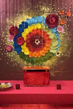 People always look for some Unique Diwali Ideas to decorate their homes. So, today we bring some innovative ideas which will make one fall in love with their home decoration. Find out these innovative ideas by Designerhomez. Flower Decoration For Ganpati, Ganpati Decoration Design, Mandir Decoration, Ganapati Decoration, Indian Decoration, Janamashtami Decoration Ideas, Wedding Stage Decorations, Diy Diwali Decorations, Backdrop Decorations
