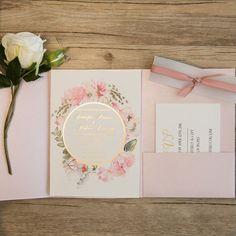 partecipazioni matrimonio tema romantico rosa