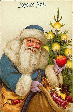 Collection of vintage Santa postcards