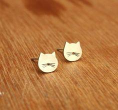 Crazy cat lady earrings. That's me. I embrace it.